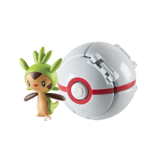 4pcs Pokemon Throw /'N/' Pop chespin pikachu froakie fennekin Poké Ball Toy set