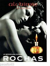 PUBLICITE ADVERTISING 106  1998   Rochas  parfum Alchimie