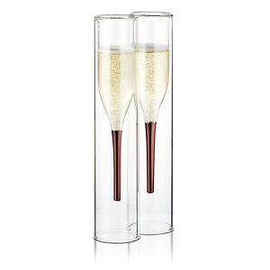 Creative Bormioli Rocco Good Spirits Champagne Flutes X 2. Home & Garden
