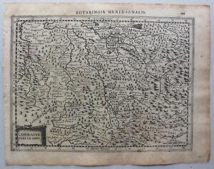 Kupferstichkarte-von-Lothringen-034-Lotaringia-Meridionalis-034-um-1650-Frankreich-sf