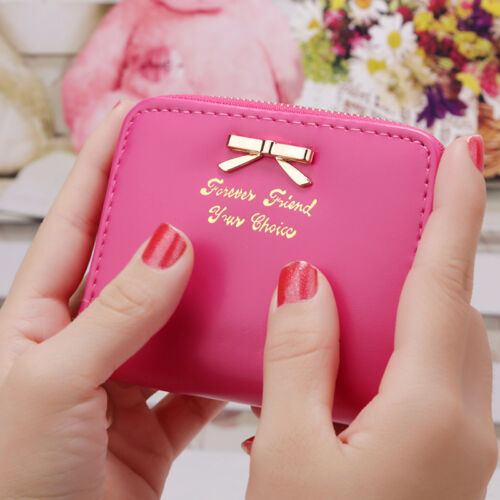 Dame Mädchen Geblümt Mini-Geldbörse Unterarm Kartenpaket Geldbeutel Portemonnaie
