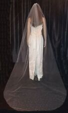 Ivory Cathedral veil with Swarovski crystals falling star design 1T 108 cut edge