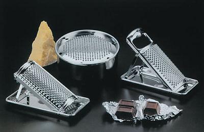 Grattugia acciaio inox universale con raccoglitore