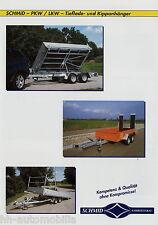 Prospekt Schmid PKW LKW Anhänger 2002 Tiefladeanhänger Kippanhänger trailer