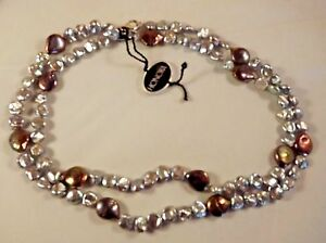 NEW-HONORA-GORGEOUS-GREY-KESHI-9MM-AND-COIN-PEARL-12MM-NECKLACE-37-034