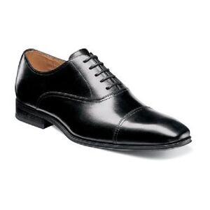 Florsheim-Men-039-s-Shoes-Corbetta-Cap-Toe-Oxford-Black-Leather-14180-001