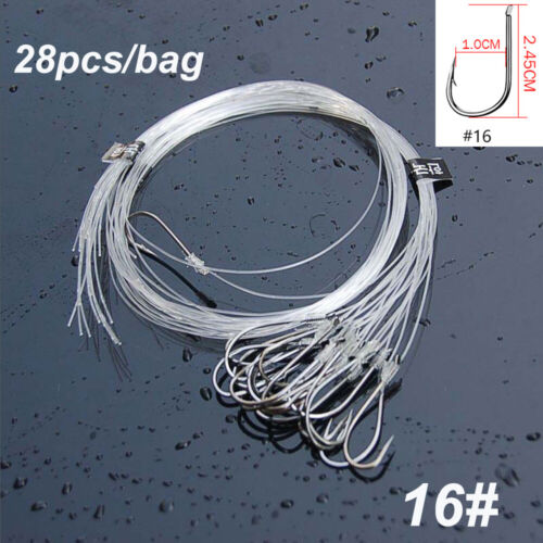 Barb Carbon Steel Nylon fishing line Fishook Fish Bait Fishing Hook with Line