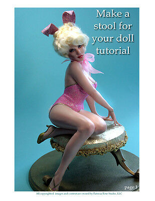 Make a sexy stool - seat for your ooak dolls designed by Patricia Rose