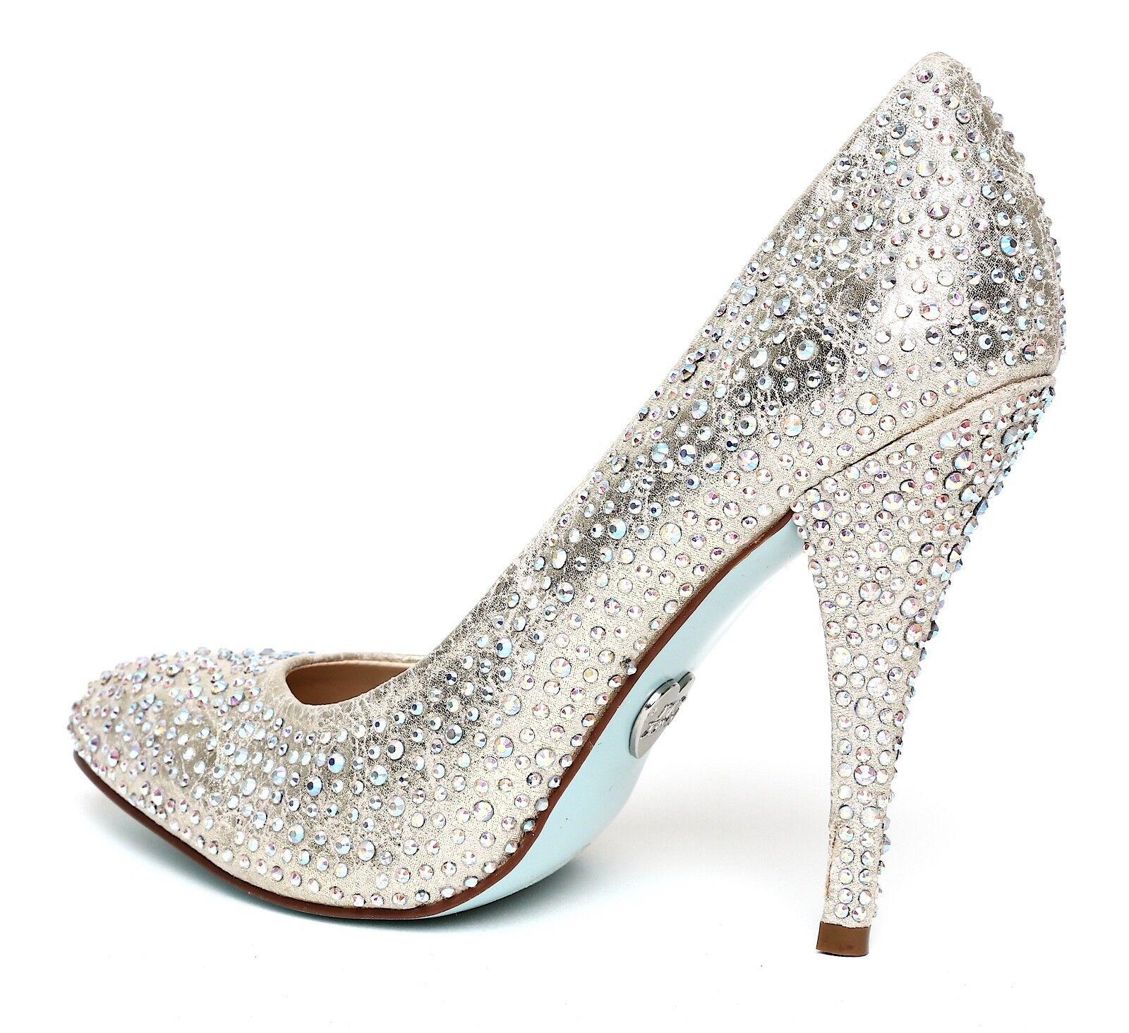 Betsey Johnson Damens Shine Pointy Toe Pump Metallic Damens Johnson Sz 8.5 1447 0705ce