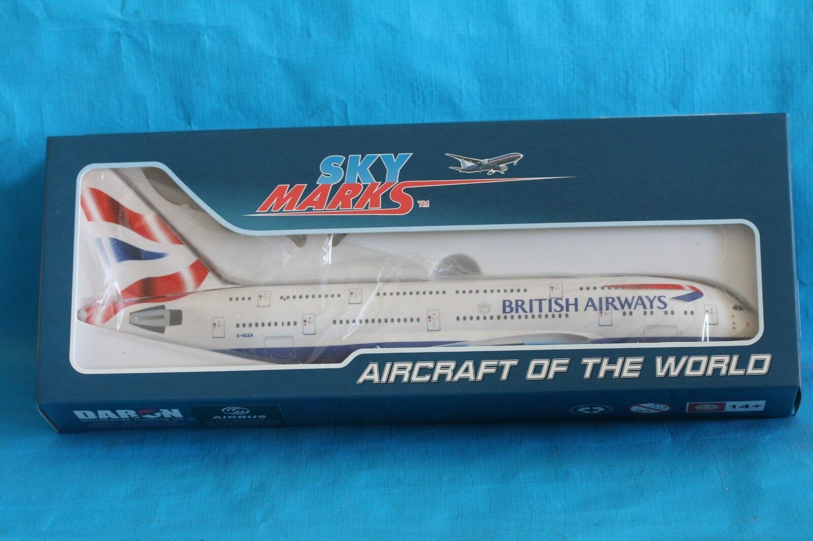 Skymarks British Airways avión Airbus A380 1 200 34cm largo Qantas Resina sólida