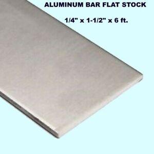 """4 pc 1//4/"""" X 1//2/"""" X 12/"""" long new 6061 aluminum plate flat stock bar block"""
