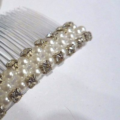 2 x Diamante Pearl Cherry Hair Slides
