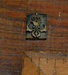 Messing-Ornament-Buchbinden-Praegen-Buchbinder-Praegestempel-Zierelement-Vergolden