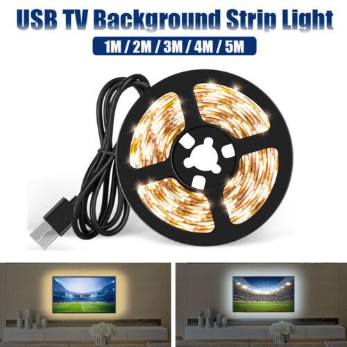 5V USB SMD 2835 LED Strip Lights TV Background Strip Lamp US d