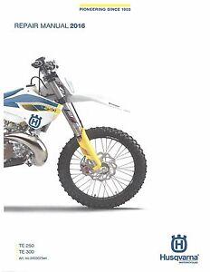 husqvarna workshop service manual 2016 te 250 te 300 ebay rh ebay com