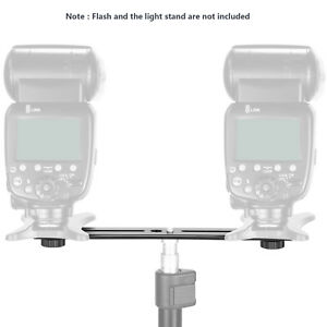 Neewer-8-034-Dual-Camera-Flash-Tripod-Bracket-Mount-for-3D-Stereo-Photography