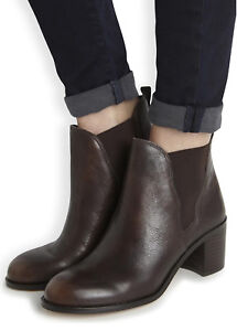 97004efe8 Image is loading SAM-EDELMAN-Ankle-Booties-Justin-Chelsea-Heeled-Leather-