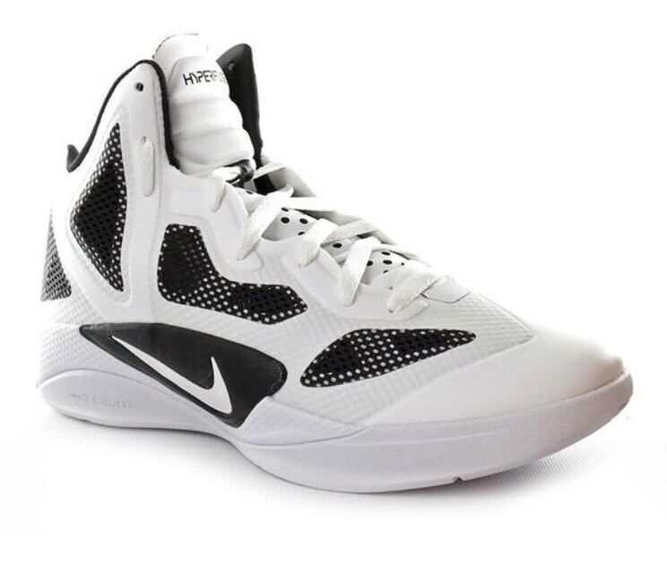 Nike Zoom 454146 Hyperfuse 2011 454146 Zoom 100 white black basketball men shoes 12.5 & 13.5 452d88