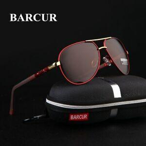 BARCUR-Aluminum-Magnesium-Men-039-s-Sunglasses-Polarized-Men-Coating-Mirror-Glasses