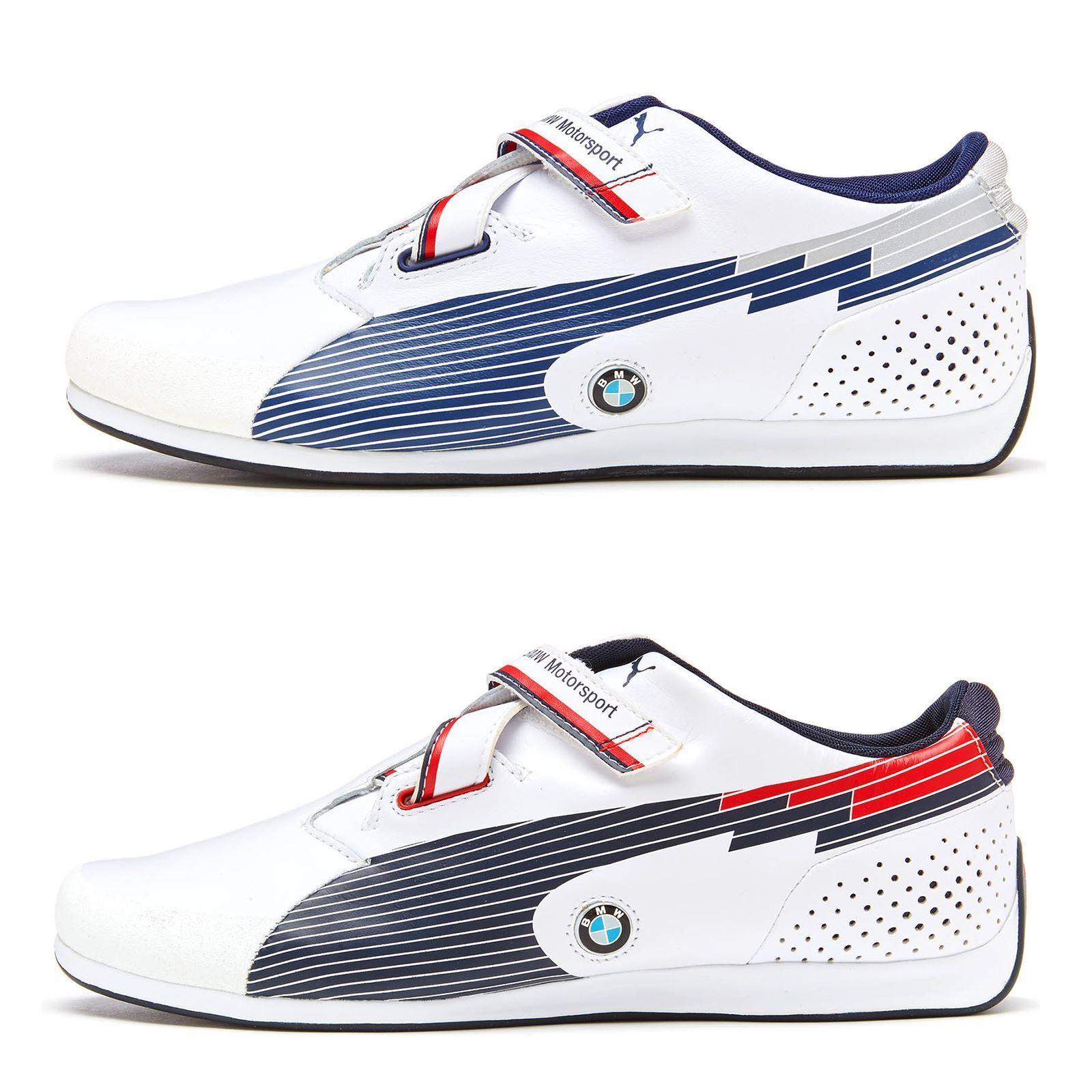 Puma cuero Evo Speed BMW F12 cuero Puma formadores en blanco, negro y azul 304175 916553