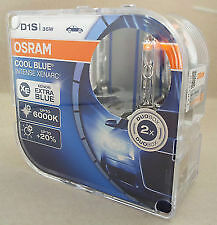 2 x D1S OSRAM Xenarc COOL BLUE INTENSE 6000k Light Xenon HID LAMPADINE TWIN