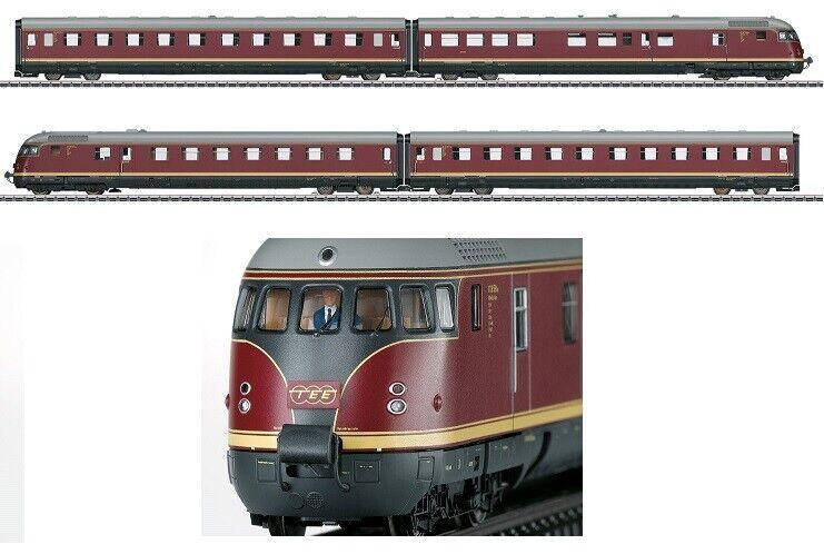 Märklin H0-AC 39082 Dieseltriebzug VT08.5 Saphir TEE D DB Ep3(1957) creme-rot