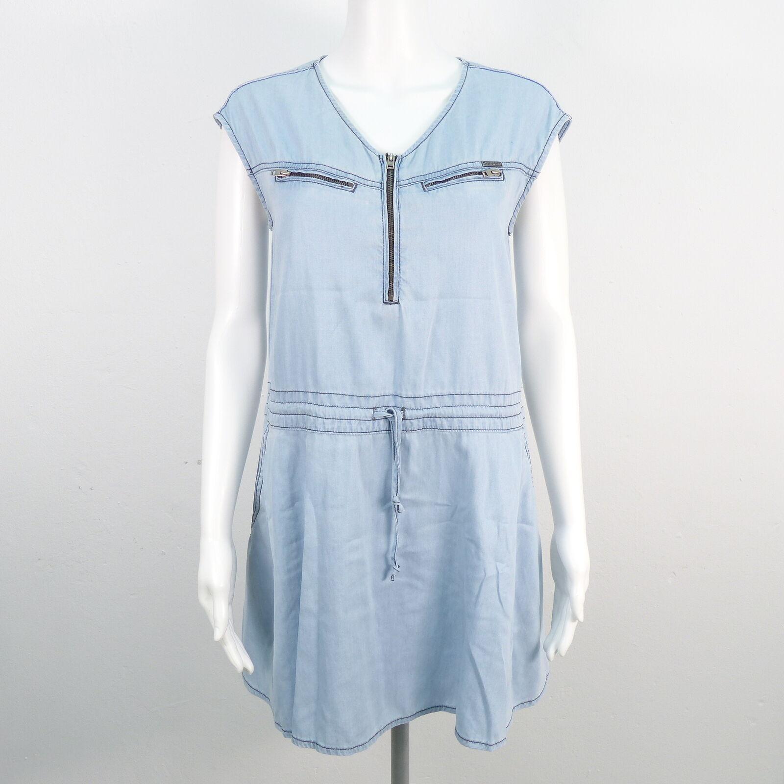 DIESEL Jeanskleid mit Gummizug DaMänner Gr. M L Denim Kleid Robe