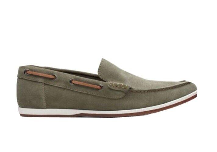 Clarks Mens Originals Morven Sun Olive Suede Slip On Comfort Shoes UK7.5G EU41.5
