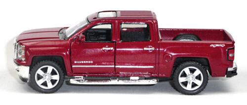 2014 chevrolet silverado modelo de coleccionista burdeo 1:46 de mercancía nueva Kinsmart!