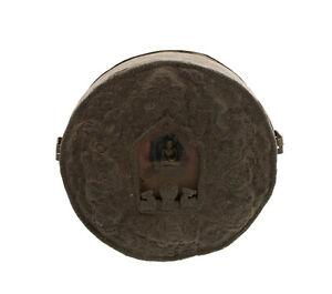 "Old Gau Ghau 8 "" 1 Budda Soprammobile Figurina Travel Shrine Prayer Box 2103 B7"