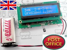 Transistor NPN PNP MOSFET Diode Tester Capacitor ESR Inductance Resistor Meter