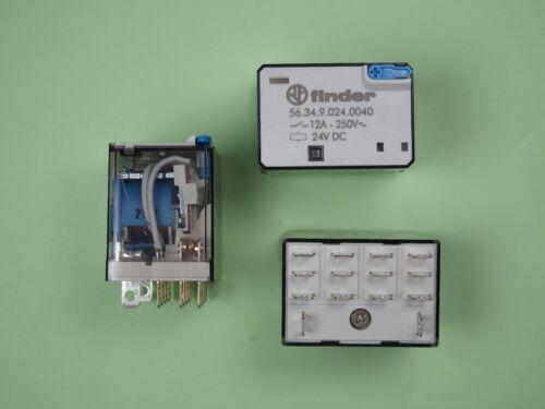 Finder Steckrelais Relais 24V DC 4 Wechsler 12A 56.34.9.024.0040