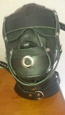 New Leather Lockable Heavy duty Hood from FettersMedium(Gay/Kink/Puppy Play Int)