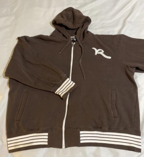 Vintage Rocawear Zip-Up Hoodie 6XL Brown Jay Z Roc