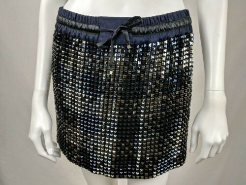 AUTHENTIC GUCCI COUTURE SILK BEADED & TIE SKIRT MI