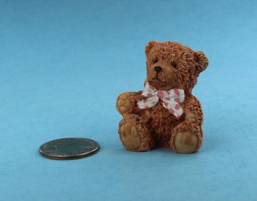 Adorable Dollhouse Miniature Resin Oversized Stuffed Teddy Bear #S4542
