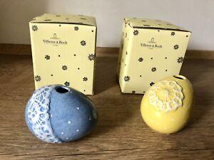 Villeroy & Boch Ostern Spring Decorarion Ei-Vasen 2 Stück gelb und blau