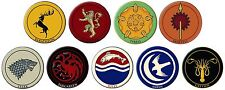 "Game of Thrones 3"" Embroidered Patch Set of 9 Different"