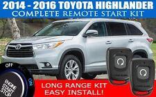 PREMIUM Toyota Highlander Remote Start Complete Kit 2014 2015 2016 Easy Install!