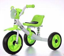 Piccolo Bambino Bambini Triciclo per bambino 3-6 anni di musica e verde Sospensione