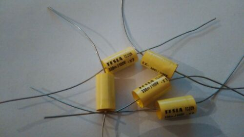 lot of 5 pcs TC205 330nF//100V 5/% polyester capacitor