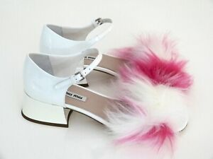 Details White Pink Eu High Sandaletten Damen Heels Neunew Miu Schuhe Zu Prada By 38 EHY9WD2Ieb