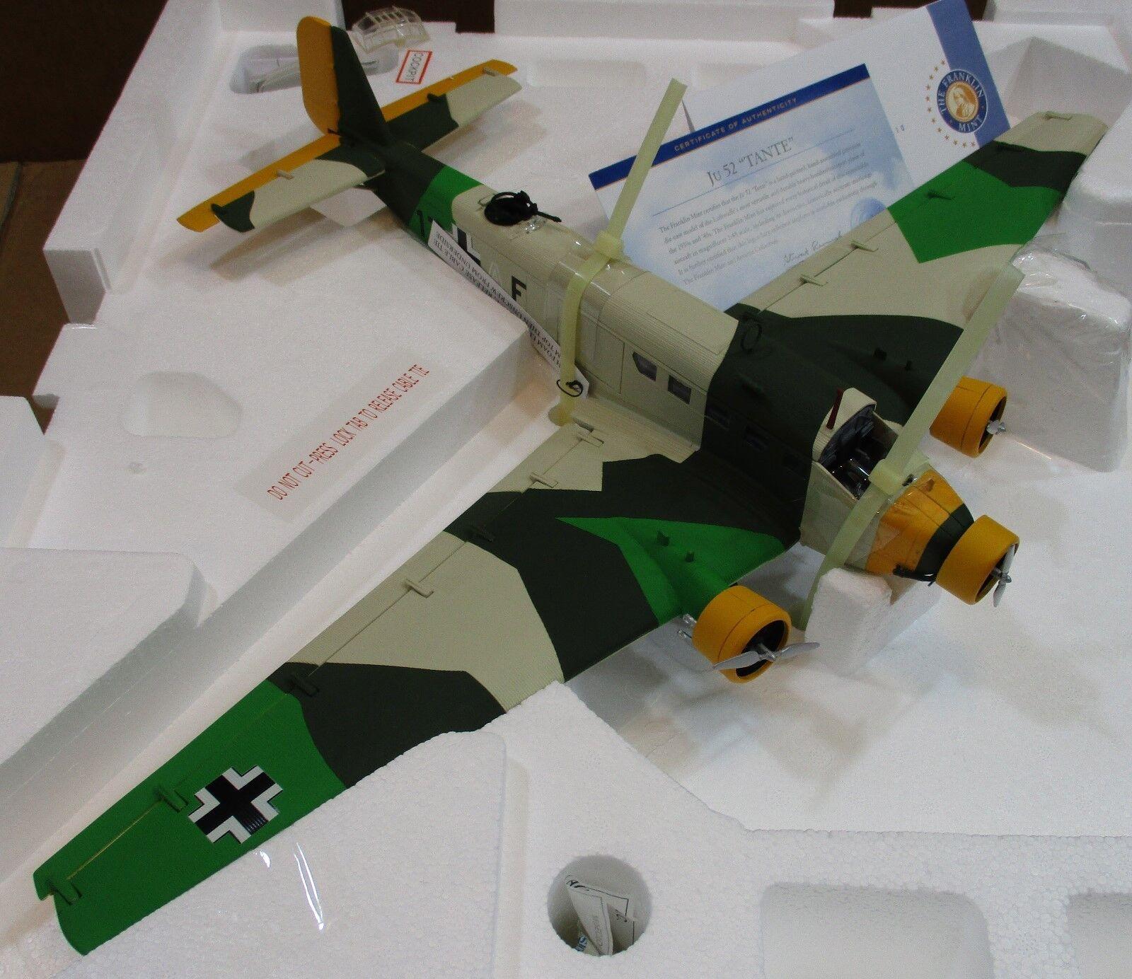 """Franklin Mint Big 24""""Junkers JU 52-3m g4e Stab IV KGZV1  Balkan Gerhommey 1 48 E1  les clients d'abord la réputation d'abord"""