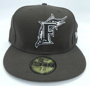 FLORIDA-MARLINS-BROWN-MIAMI-VINTAGE-59FIFTY-FITTED-SIZES-NEW-ERA-CAP-NEW-RARE