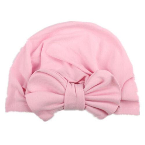 Babymütze Mädchen Schleife Turban Chemo Kopftuch Beanie Hut Stirnband Headwrap