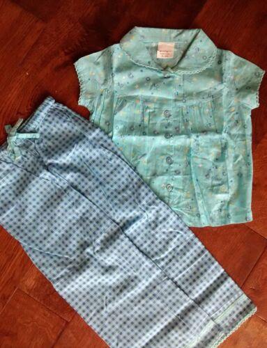 EX Mini Boden Ragazze Turchese Blu Cotone Pigiami PYJAMA Set 2//3 3//4 4//5 5//6 anni