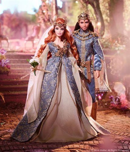 Barbie Y Ken Muñeca De Boda Reino Lejano bosque de hadas Conjunto de Regalo nunca quitado de la Caja Con Cargador