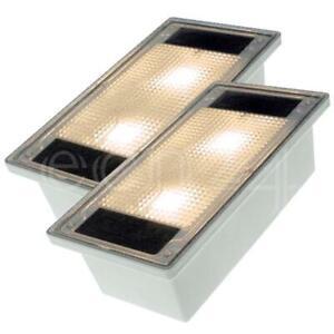 Solar Pflasterstein Solarstein Set 10x20cm trittfest LED warmweiss