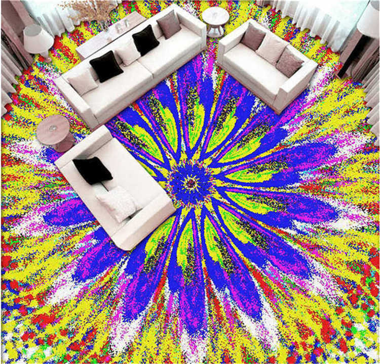 Bardian Pattern 3D Floor Mural Photo Flooring Wallpaper Home Printing Decoration
