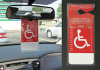Set Of 2 - Handicapped Disabled Parking Car Permit Placard Holder Protector